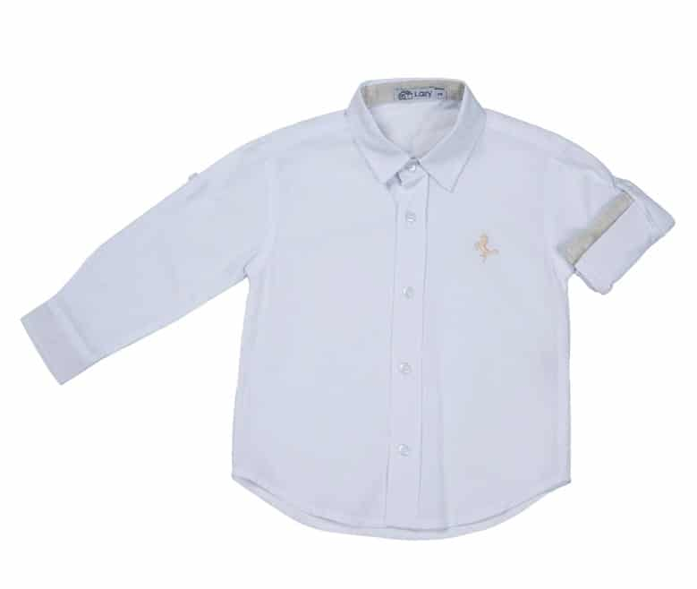 Camisa branca bege