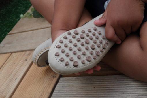 Sapato Mocassim masculino infantil Menino Marfim e marrom