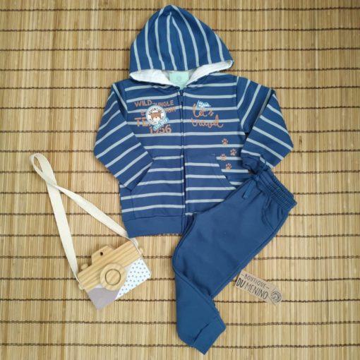 Conjunto Infantil Moletom Menino ADVENTURE Azul - Kiko e Kika