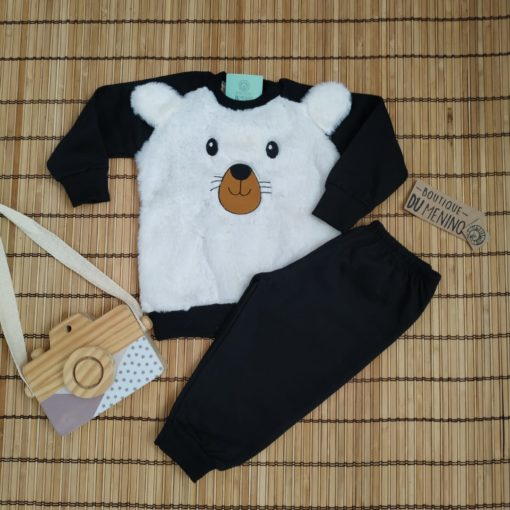 Conjunto Infantil Moletom Menino Urso Pelúcia - HRRADINHOS