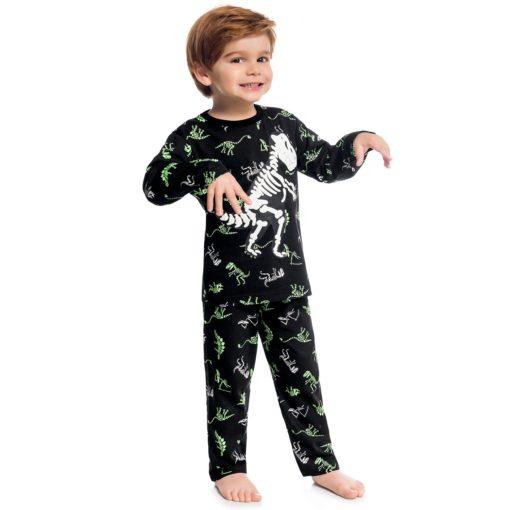 Pijama masculino, camiseta manga longa e calça, ideal para o inverno.