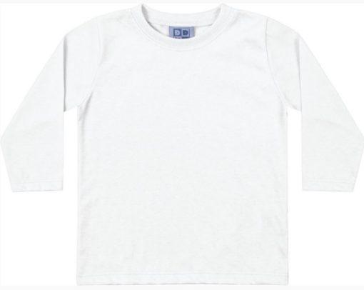 Camiseta Em Meia Malha Penteada Branco