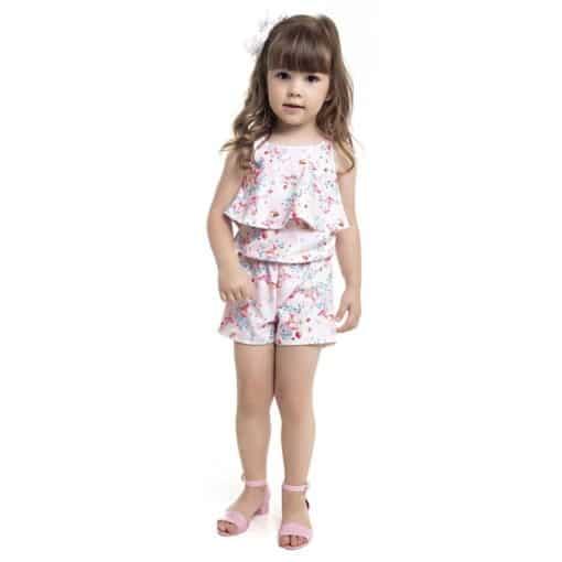 Macaquinho Infantil Menina Bailarina Rosa