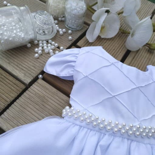 Vestido de batizado menina