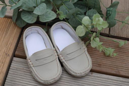 Sapato Mocassim masculino infantil Menino Marfim Liso