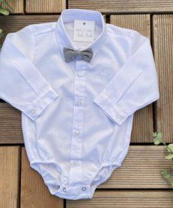 Conjunto Premium Infantil Menino Calça Camisa Gravata e Suspensório Azul Marinho