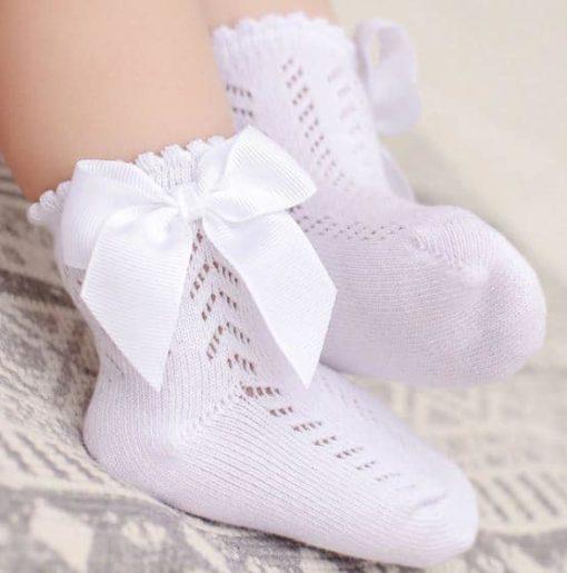 Meia Laço Renda Bebê Menina Princesa ventilação criança